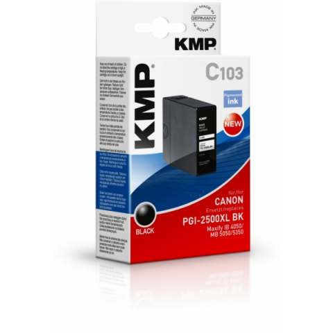 KMP Tintenpatrone, kompatibel zu PGI2500XL BK