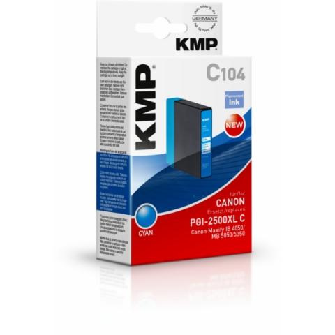 KMP Tintenpatrone, kompatibel zu PGI2500XL C für