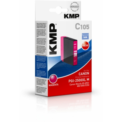 KMP Tintenpatrone, kompatibel zu PGI2500XL M für