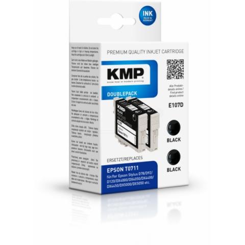 KMP Tintenpatrone im Doppelpack für Epson Stylus