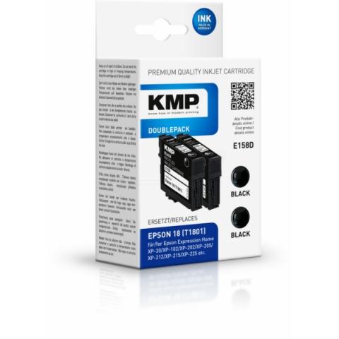 KMP Druckerpatronen, recycelt, Doppelpack,