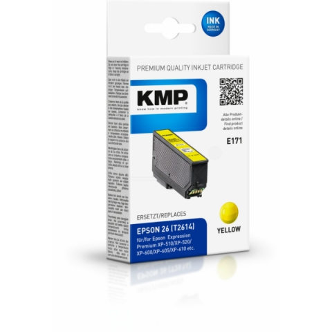 KMP Tintenpatrone ersetzt Epson original 26