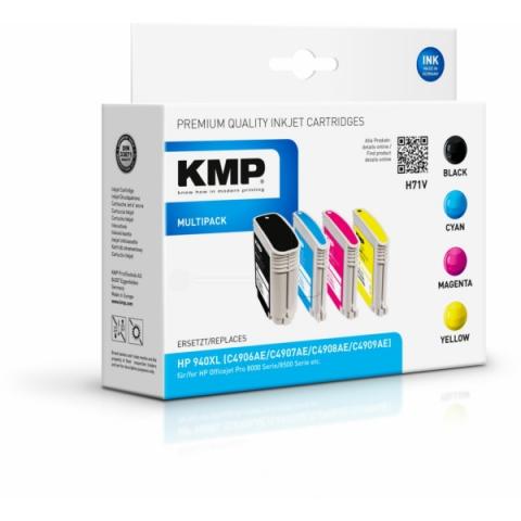 KMP Multipack Tintenpatronen mit CHIP von mit