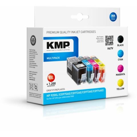 KMP Refillpatronen im Vorteilspack, MIT CHIP mit
