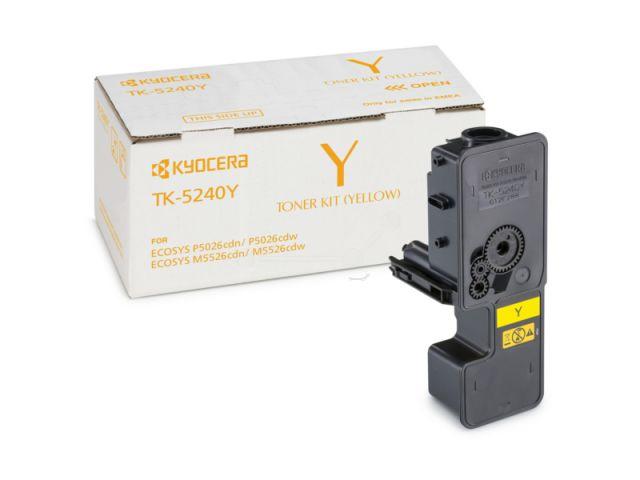 TK-5240Y Toner Kyocera für Ecosys M5526/P5026 CDW/CDN mit einer Seitenleistung von ca. 3.000