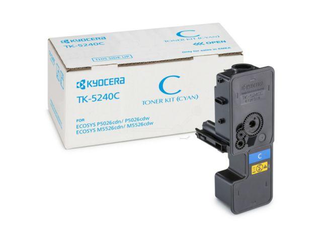 TK-5240C Toner Kyocera für Ecosys M5526/P5026 CDW/CDN mit einer Seitenleistung von ca. 3.000