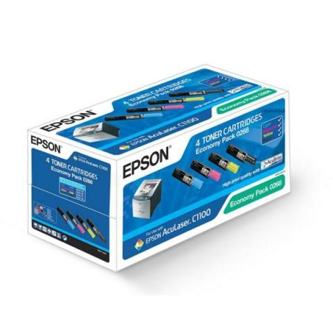 Epson S050268 original Toner Set mit 4 Toner n