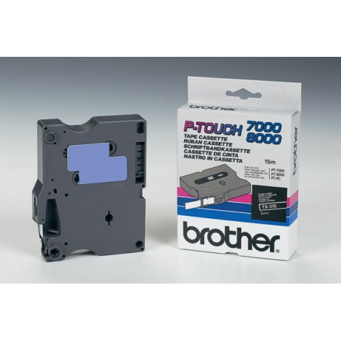 Brother TX315 BROTHER P-TOUCH 6mm B-Wblack-white