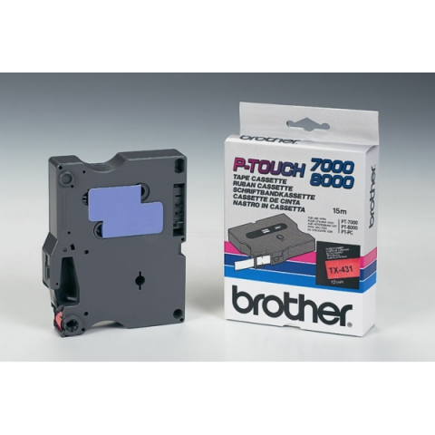 Brother TX431 BROTHER P-TOUCH 6mm R-Bred-black