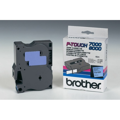 Brother TX551 BROTHER P-TOUCH 24mm B-Bblue-black