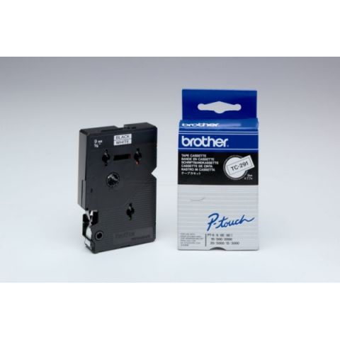 Brother TC291 BROTHER P-TOUCH 9mm W-Bwhite-black