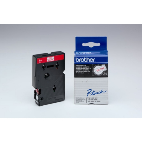 Brother TC292 BROTHER P-TOUCH 9mm W-Rwhite-red