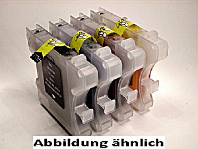 Druckerpatronen im Multipack, ersetzen Brother LC970, recycelte Tintenpatronen mit 1 x ca. 21 ml