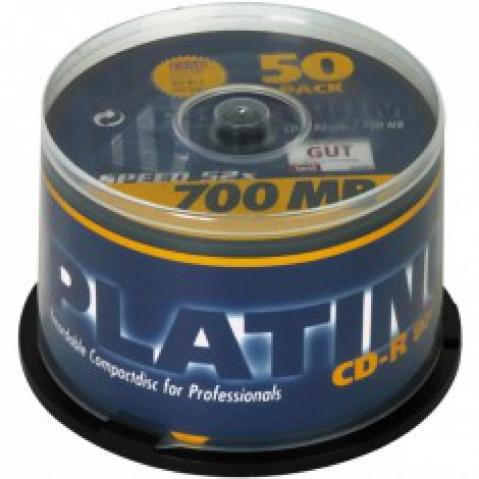 CD-R 80 mit 700 MB Schreibgeschwindigkeit 52x