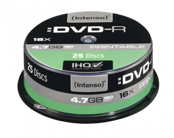 Platinum DVD-R 4.7GB 16 x 25er Cake, printable