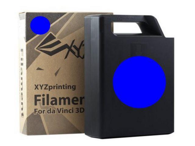 ABS Plastic Filament (blau) Cartridge / Kassette mit 600 Gramm Inhalt für DA VINCI 1.0 3D