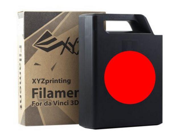 ABS Plastic Filament (red) Cartridge / Kassette mit 600 Gramm Inhalt für DA VINCI 1.0 3D PRINTER