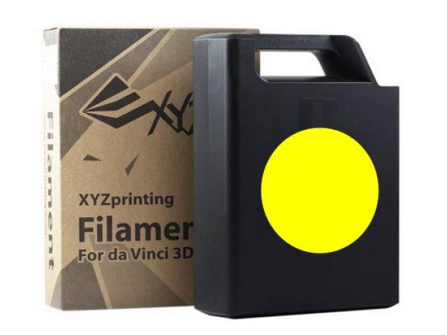 ABS Plastic Filament (gelb) Cartridge / Kassette mit 600 Gramm Inhalt für DA VINCI 1.0 3D