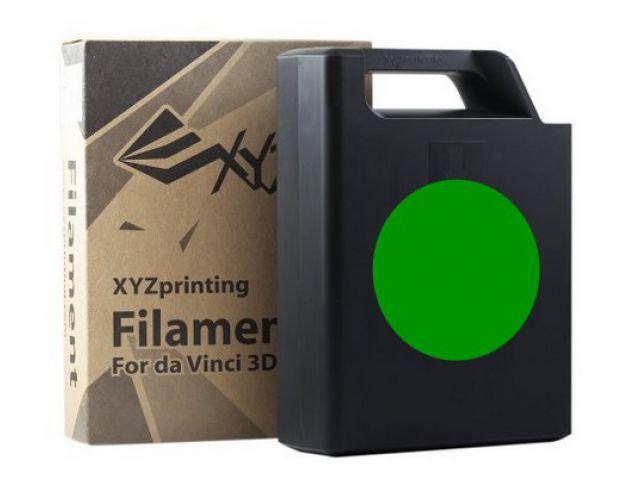 ABS Plastic Filament (green) Cartridge / Kassette mit 600 Gramm Inhalt für DA VINCI 1.0 3D