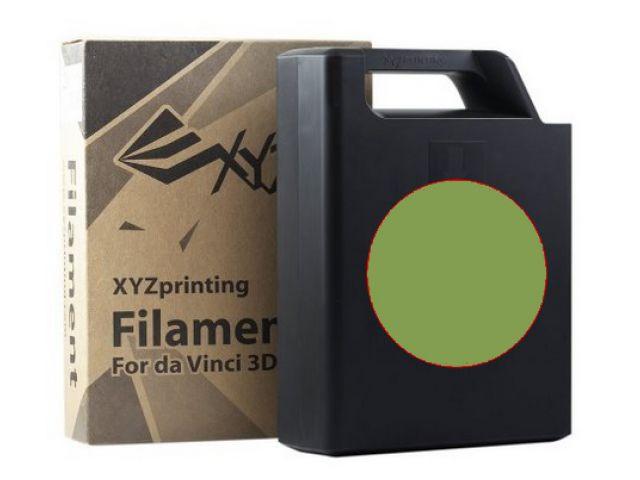 ABS Plastic Filament (olivine) Cartridge / Kassette mit 600 Gramm Inhalt für DA VINCI 1.0 3D
