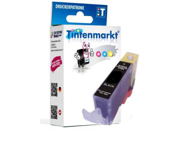 Druckerpatrone ersetzt Canon CLI-521BK, kompatible Tintenpatrone mit ca. 12 ml Inhalt schwarz