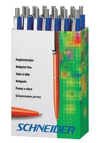 Schneider Kugelschreiber im Pappspender, alle