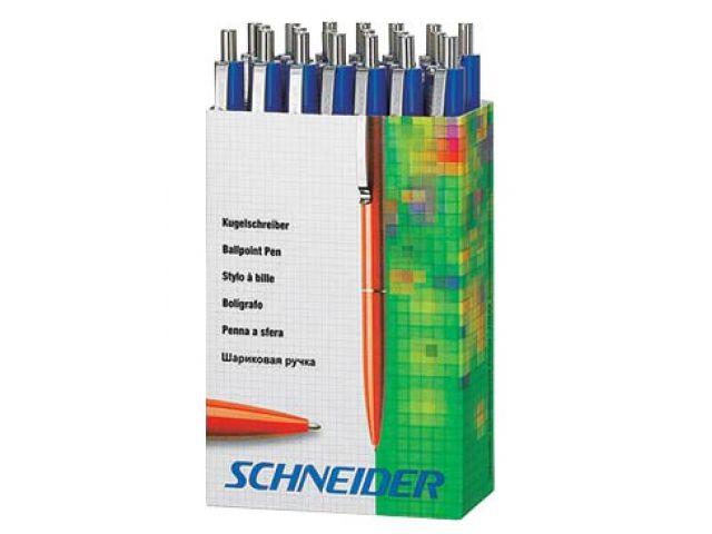 Schneider Kugelschreiber im Pappspender, alle in blau, Inhalt 20 Stück