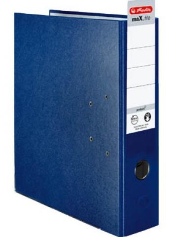 Herlitz 8 cm blauer Kunststoff Ordner