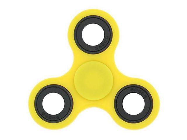 Fidget Spinner Toy, ca. 7cm Durchmesser, gelb