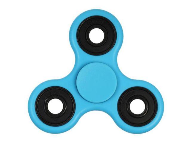 Fidget Spinner Toy, ca. 7cm Durchmesser, hellblau