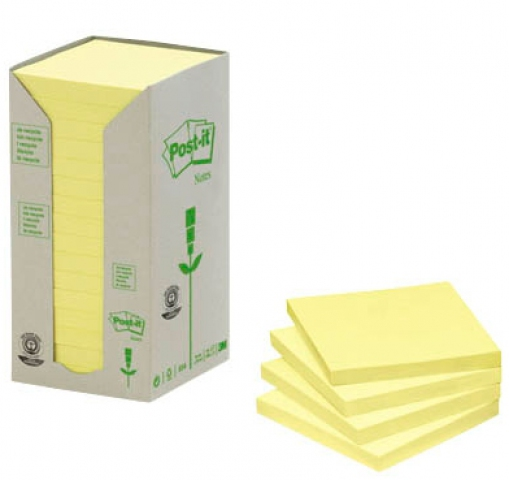 Post-it Haftnotizen aus Recyceltem Papier, 7,6