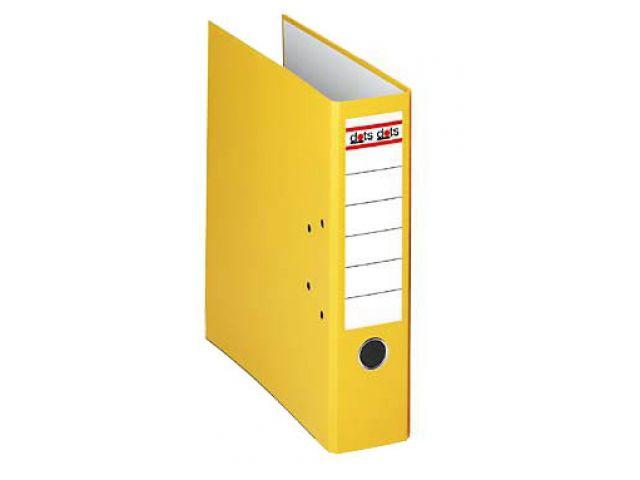Dots Ordner 8, 0 cm breit mit gelben Seitenteilen und mit Einsteck-Rückenschild, Außenhaut aus