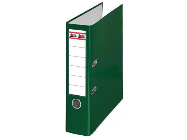 Dots Ordner 8, 0 cm breit mit grünen Seitenteilen und mit Einsteck-Rückenschild, Außenhaut aus
