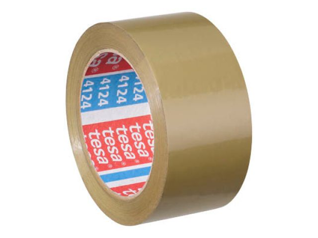 TESA PVC-Packband 4124 ultra strong chamois, 66my, 5, 0 cm breit, 66 Meter auf der Rolle,