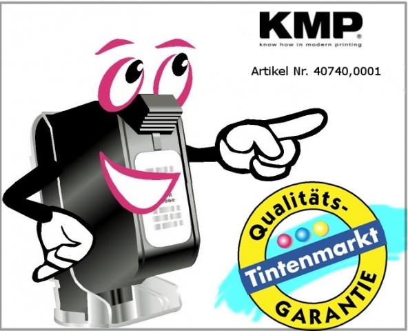 KMP Farbrolle für Seiko IR 80, schwarz