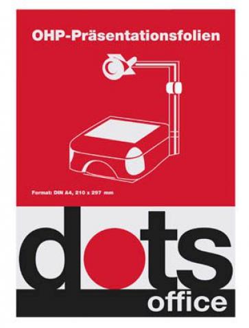 dots OHP-Folien für InkJet-Drucker, DIN A4,