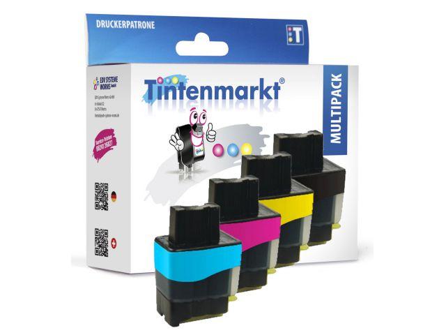 Druckerpatronen im Multipack, ersetzen Brother LC 900, recycelte Tintenpatronen mit 1 x ca. 19