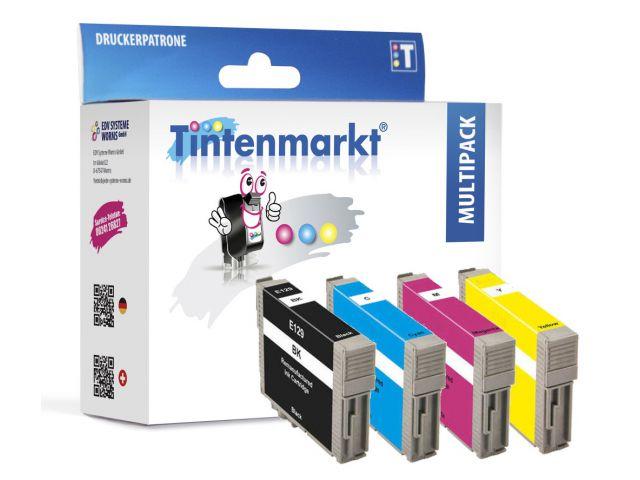 Druckerpatronen im Multipack, ersetzen Epson T129, recycelte Tintenpatronen mit 1 x 13 ml und 3