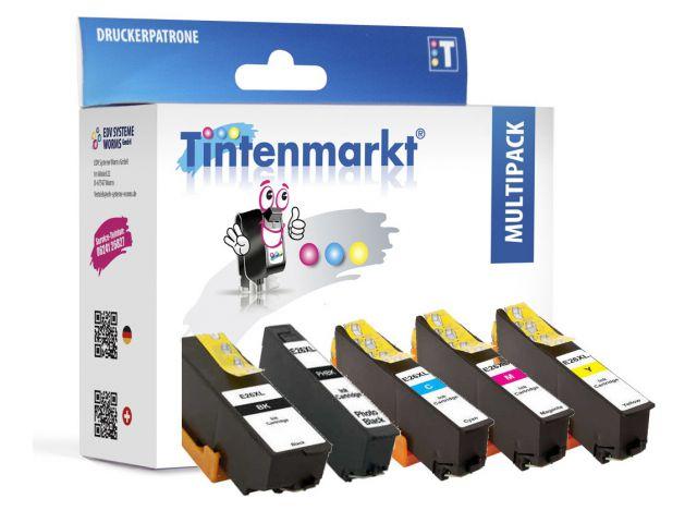 Druckerpatronen im Multipack, ersetzen Epson T2636XL, recycelte Tintenpatronen mit 4x ca. 11ml