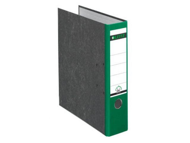 LEITZ Ordner in grün, das original aus stabiler Pappe mit Wolkenmarmor - Optik 8 cm breit, grün