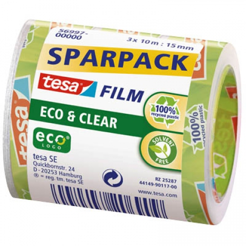 Tesa Multipack mit 3 x tesa Klebefilm ECO &