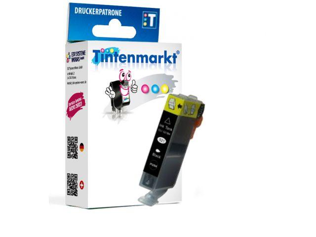 Druckerpatrone ersetzt Canon BCI-6eBK, kompatible Tintenpatrone mit ca. 13 ml Inhalt schwarz