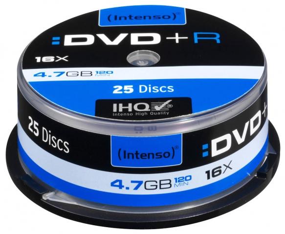 DVD+R mit 4, 7 GB Speicherkapazit�t in der 25