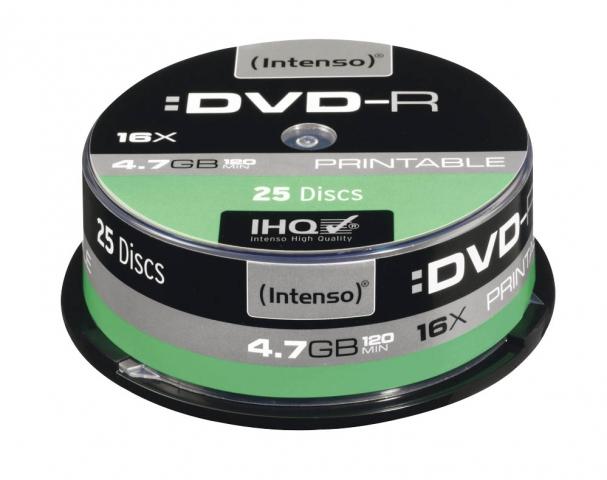DVD-R bedruckbar mit Speicherkapazität von 4, 7