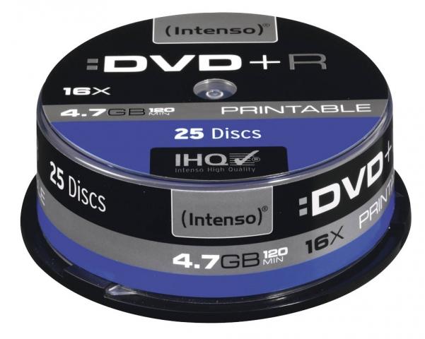 DVD+R bedruckbar mit 4, 7 GB, 25 st�ck auf