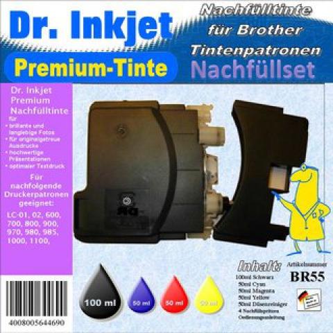 Dr. Inkjet Komplett 250ml Set Premium