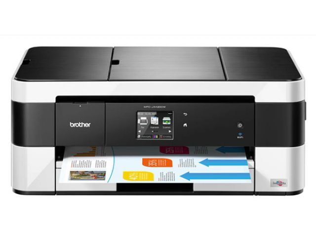 Brother MFCJ4420DW Multifunktionsgerät, Fax, Drucker, Kopierer, Scanner, 4 in 1