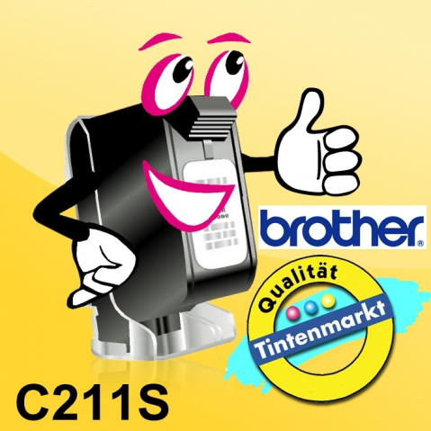 Brother C211S original Thermo-Transfer-Papier