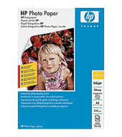 HP A4 Fotopapier HP, 300g , qm, semi gloss, 20