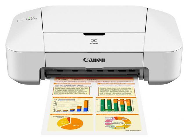 Canon PIXMA iP2850 einfacher A4 Tintenstrahldrucker, Gehäuse weiß
